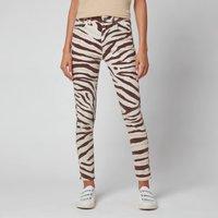 Polo Ralph Lauren Women's High Rise Skinny Jeans - Black/White Zebra - 29