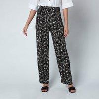 Ganni Women's Printed Crepe Trousers - Phantom - EU36/UK8