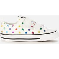 Converse Toddlers' Chuck Taylor All Star Velcro Archive Foil Star Print Ox Trainers - Foil Star - UK