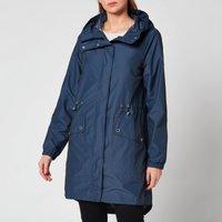 Barbour International Womens Suzuka Showerproof Coat - Metallic Blue - UK 14