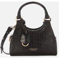Radley Women's Corsica Remastered Croc Small Ziptop Cross Body Bag - Black