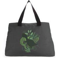 T-Rex Silhouette Foliage Tote Bag