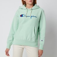 Champion Women's Large Script Hooded Sweatshirt - Mint Green - L