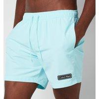 Calvin Klein Men's Medium Drawstring Swimshorts - Tanager Turquoise - L
