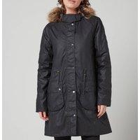 Barbour Womens Mull Wax Jacket - Navy/Dress - UK 16