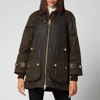 Barbour Womens Norwood Wax Jacket - Olive/Classic - UK 16