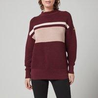 Barbour International Women's Chicane Knitted Jumper - Merlot - UK 14