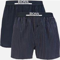 BOSS Bodywear Men's 2 Pack Woven Boxer Shorts - Blue/Pink - XL
