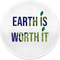 Earth Is Worth It Round Bath Mat
