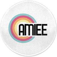 Amiee Rainbow Round Bath Mat