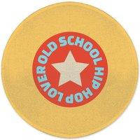 Old School Hip Hop Lover Round Bath Mat
