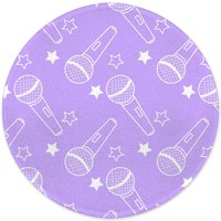 Microphones Round Bath Mat
