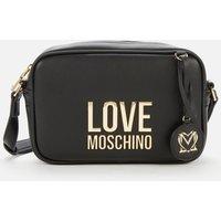 Love Moschino Womens Logo Camera Bag - Black