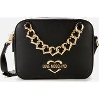 Love Moschino Womens Chain Camera Bag - Black