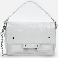 Núnoo Womens Honey Deluxe Croco Small Cross Body Bag - White