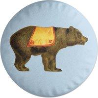 Circus Bear Round Cushion