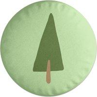Pine Tree Round Cushion