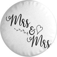 Mrs & Mrs Round Cushion
