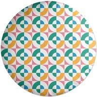 Colourful Circles Round Cushion