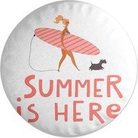 Summer Is Here Round Cushion