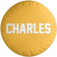 Embossed Charles Round Cushion