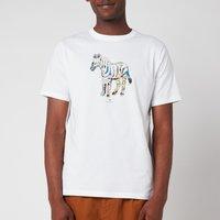PS Paul Smith Men's Regular Fit Multi Colour Zebra T-Shirt - White - L