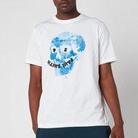PS Paul Smith Men's Regular Fit Floral Skull T-Shirt - White - XXL