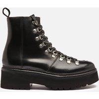 Grenson Women's Nanette Chunky Leather Hiking Style Boots - Black - UK 5