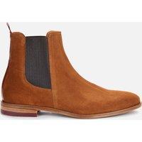 Ted Baker Mens Ficus Suede Chelsea Boots - Dark Tan - UK 10