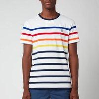 Polo Ralph Lauren Mens Multi Stripe T-Shirt - White Multi - XXL
