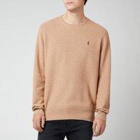 Polo Ralph Lauren Men's Cotton Mesh Crewneck Jumper - Camel Melange - XXL