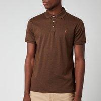 Polo Ralph Lauren Men's Slim Fit Soft Cotton Polo Shirt - Nutmeg Brown Heather - L