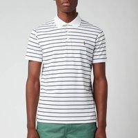 Polo Ralph Lauren Men's Pima Stripe Polo Shirt - White/French Navy - L
