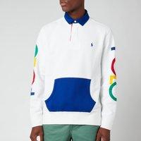 Polo Ralph Lauren Mens Fleece Rugby Top - White - L