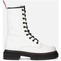 Kurt Geiger London Womens Birdie Leather Lace Up Boots - White - UK 6