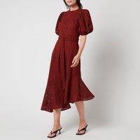 Ted Baker Women's Belllaa Puff Sleeve Midi Broderie Dress - Dark Orange - UK 12