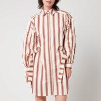 Ted Baker Womens Kaate Midi Shirt Dress With Waist Tie - Nude - UK 14
