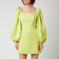 Ted Baker Womens Disina Mini Jacquard Exaggerated Sleeve Dress - Light Yellow - UK 12