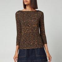 Ted Baker Women's Mairii Half Sleeve Jersey T-Shirt - Light Brown - UK 12