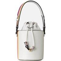 KARL LAGERFELD Women's K/Charms Stripes Small Bucket Bag - White