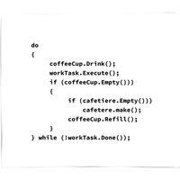 Coffee Code Fleece Blanket - M