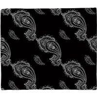 Linked Paisley Fleece Blanket - M