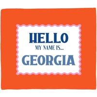 Image of Hello, My Name Is Georgia Fleece Blanket - M