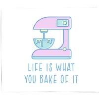 Life Is What You Bake Of It Fleece Blanket - S
