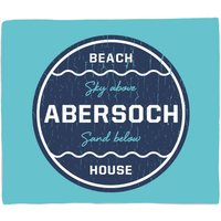 Abersoch Beach Badge Fleece Blanket - M