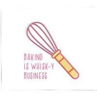 Baking Is Whisk-y Business Fleece Blanket - M