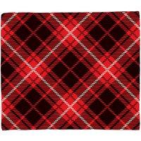 Diagonal Cross Tartan Fleece Blanket - S