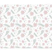 Neutral Floral Fleece Blanket - S