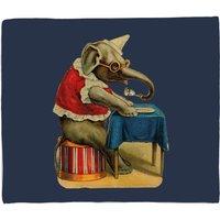 Clown Elephant Fleece Blanket - M