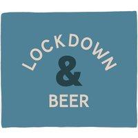 Lockdown and Beer Fleece Blanket - S